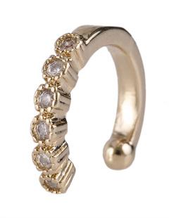 Piercing fake dourado com strass cristal Gavassi
