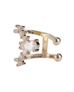 Piercing fake dourado com strass cristal West