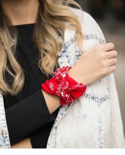 Bandana de tecido vermelho Teen