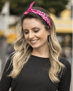 Bandana de tecido rosa pink Teen