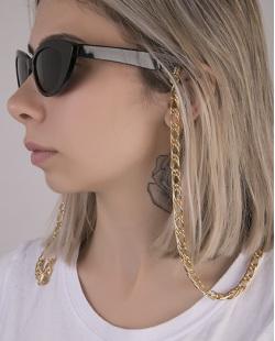 Corrente de óculos de metal dourado Frejat