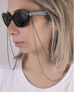 Corrente de óculos de metal grafite Hypo