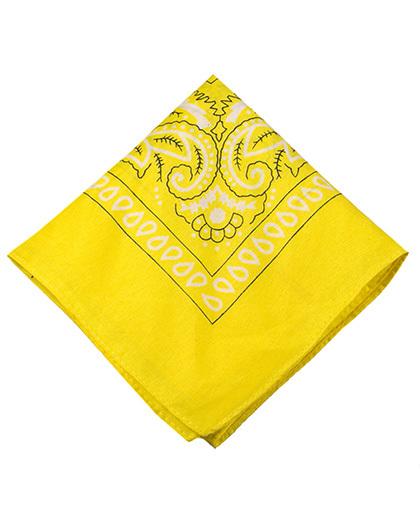Bandana de tecido amarelo Geeks
