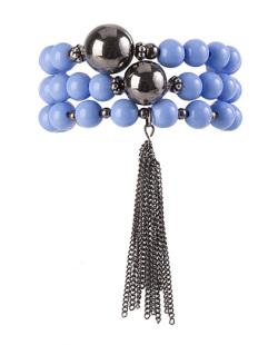 Kit de 3 pulseiras de acrílico azul Lamego