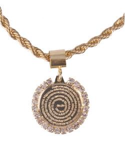 Pulseira de metal dourada com strass cristal Lucca