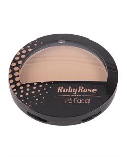 Pó Facial Ruby Rose Bege Escuro