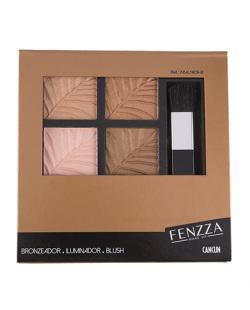 Paleta de Blush, Iluminador e Bronzer Cancun Fenzza