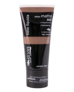 Base Líquida Matte HD Marrom Escuro - MAX LOVE