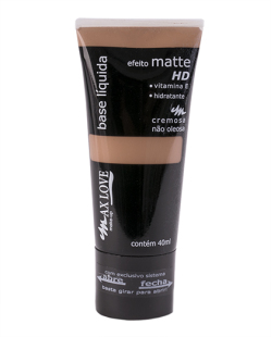 Base Líquida Matte HD Marrom - MAX LOVE