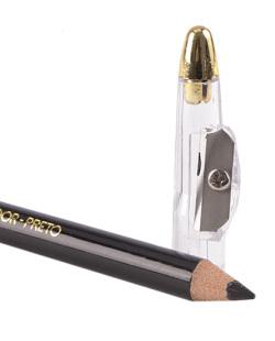 Lápis para os olhos preto com apontador e esfumador Fenzza