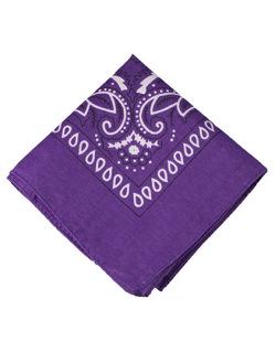 Bandana de tecido roxo Krevitz