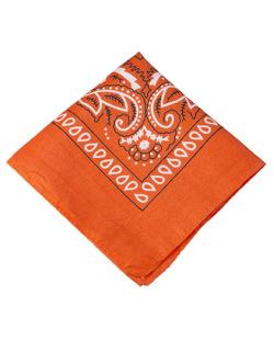 Bandana de tecido laranja Krevitz