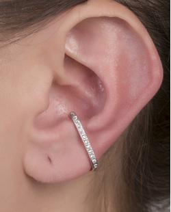 Piercing fake prateado com strass cristal Isa
