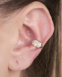 Piercing fake dourado com strass cristal Jay
