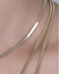 Kit 3 colares de metal dourado Astrus