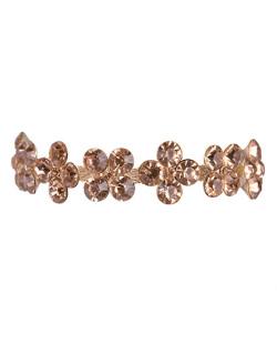 Pulseira de metal dourado com pedra rosé sendy