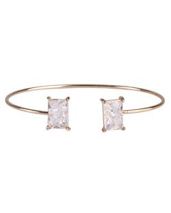 Bracelete de metal dourado com pedra fusion cristal Maggie