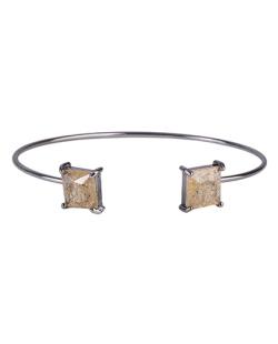 Bracelete de metal grafite com pedra fusion licor Peggy