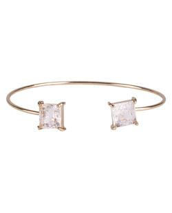 Bracelete de metal dourado com pedra fusion cristal Peggy
