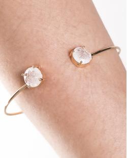 Bracelete de metal dourado com pedra fusion cristal Jessy