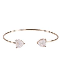 Bracelete de metal dourado com pedra fusion cristal Pennelope