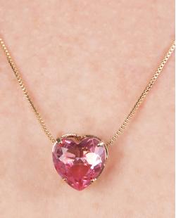 Kit colar mais brinco de metal dourado com pedra rainbow rosa Hilary