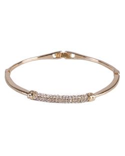 Bracelete de metal dourado com strass cristal Donna