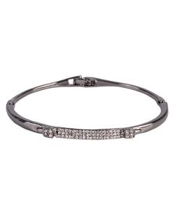 Bracelete de metal grafite com strass cristal Ashley