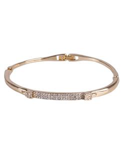 Bracelete de metal dourado com strass cristal Ashley