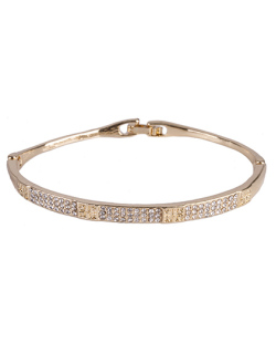 Bracelete de metal dourado com strass cristal Kimberly