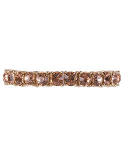 Pulseira de metal dourado com pedra rosé Cindy