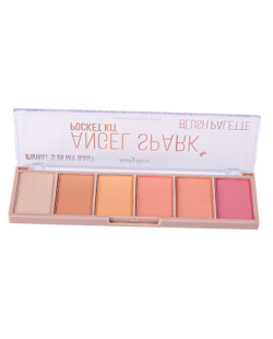 PALETA DE BLUSH 6 CORES RUBY ROSE