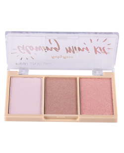 PALETA DE ILUMINADOR 3 CORES GLOWING MINI RUBY ROSE