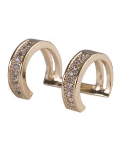 Piercing fake dourado com strass cristal Beatriz