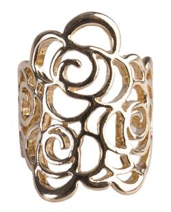Anel de metal dourado Chris