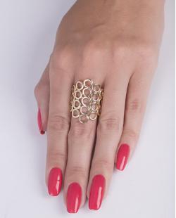Anel de metal dourado ely
