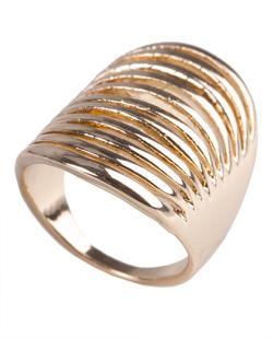 Anel de metal dourado Millie