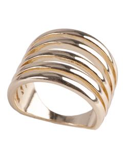 Anel de metal dourado Ana