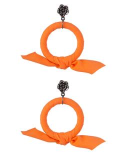 Maxi Brinco de tecido laranja Miranda