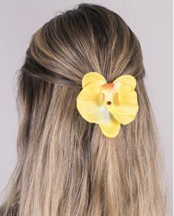 Presilha de flor amarela lily