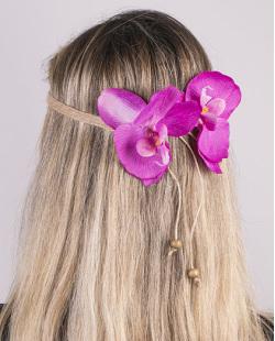 Headband de flor rosa Sarah