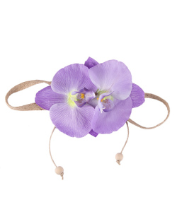 Headband de flor lilás Sarah
