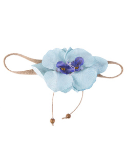 Headband de flor azul Sarah
