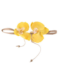Headband de flor amarela Sarah