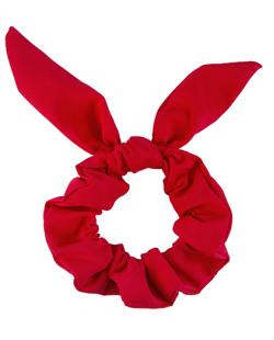 Laço de tecido scrunchies   vermelho Bethany
