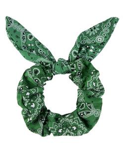 Laço de tecido scrunchies   verde Dafne