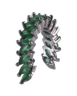 Piercing fake grafite com strass verde Naty