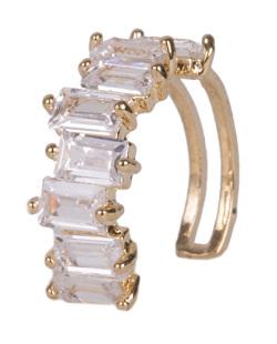 Piercing fake dourado com pedra cristal hannah