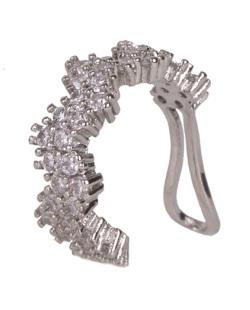 Piercing fake prateado com strass cristal Rihanna