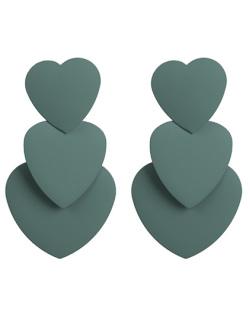 Maxi brinco de metal verde cris